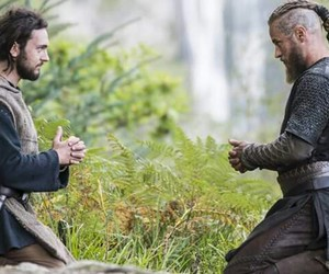 vikings, ragnar, and athelstan image