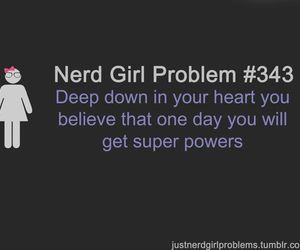 funny, girl, and nerd image