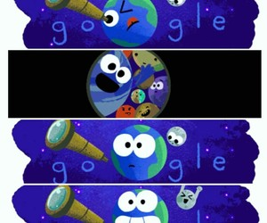 doodle, earth, and google image