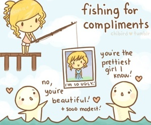funny, compliments, and fishing image