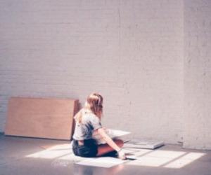 sun and girl image