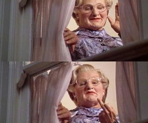 funny, mrs doubtfire, and robin williams image