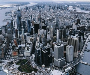 city life, great view, and manhattan image