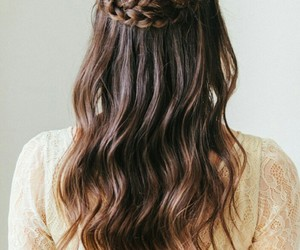 braided hair brunette image