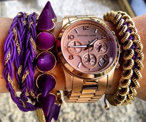 watch, purple, and bracelet image