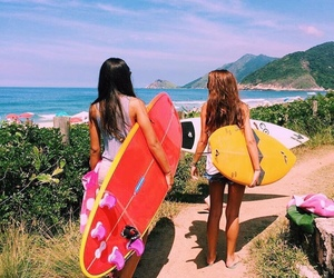 summer, surf, and tropical image