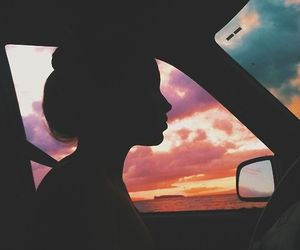 beautiful, driving, and girl image