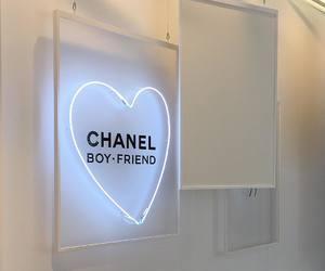 chanel, neon, and aesthetic image