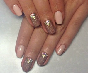 beige, gold, and nails image