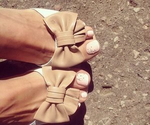beige, flowers, and foots image