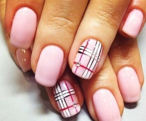 Burberry, nails, and pink image