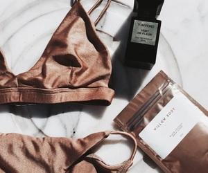 summer, bikini, and gold image
