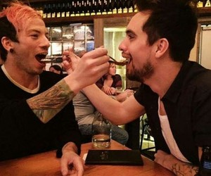 panic! at the disco, brendon urie, and josh dun image