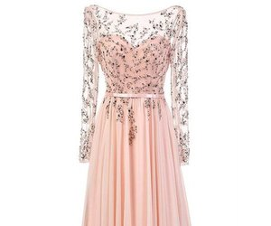 prom dresses, pink prom dresses, and long prom dresses image