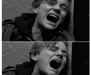 leonardo dicaprio, cry, and sad image
