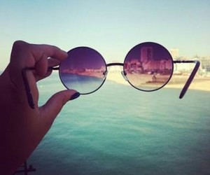 sea, glasses, and summer image