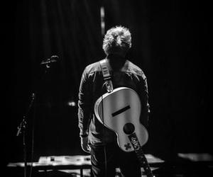 ed sheeran, guitar, and black and white image