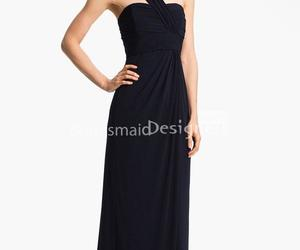 black dress, fashion, and long dress image