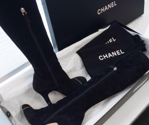 black, chanel, and shoes image