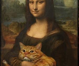 mona lisa, art, and funny image