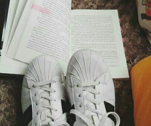 adidas, book, and books image