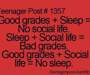 sleep, grades, and teenager post image