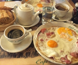 breakfast, cafe de flore, and coffe image