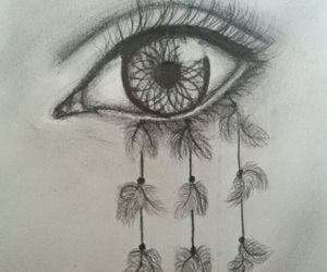 art, drawing, and dreamcatcher image