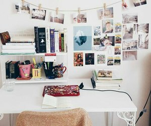 college, desk, and room image