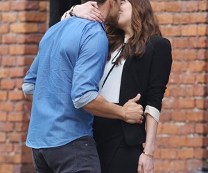 kiss, christian grey, and fifty shades darker image