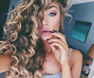 beautiful, curly hair, and beauty image