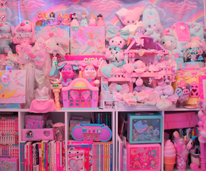 room, pastel, and pink image