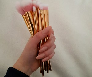 Brushes, gold, and nails image