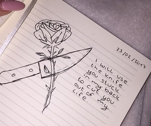 knife and rose image