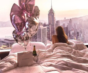 city, luxury, and balloons image