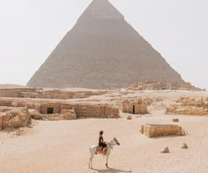 egypt, travel, and pyramid image