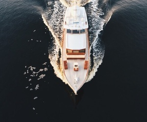 boat, summer, and ocean image