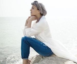 beach, fashionista, and hijab image
