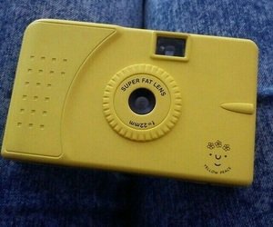 yellow, camera, and aesthetic image