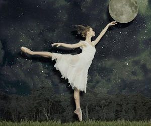 dance, dancing, and moon image