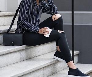 girl, fashion, and shirt image
