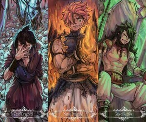 fairy tail, natsu dragneel, and zeref dragneel image