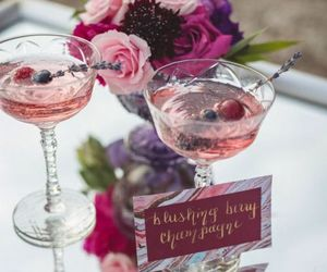 berry, flowers, and party image