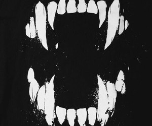teeth, vampire, and black image