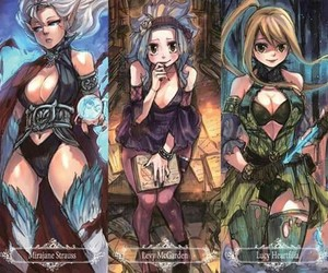 anime, girls, and mirajane image