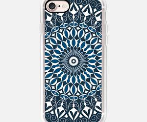 blue, mandala, and case image
