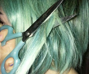hair, green, and aesthetic image