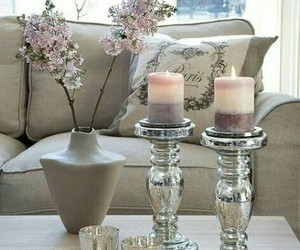 decor, flowers, and living room image