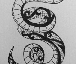 art, black, and snake image