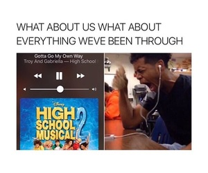 high school musical, funny, and meme image